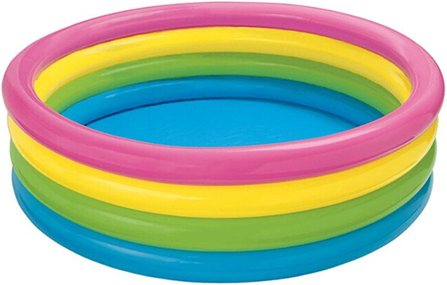 Inflatable bathtub Family large ocean ball pool thickening paddling pool adult LITING-WANG (color   color inflatable tube)