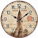 Telisha Retro diseño Grande Reloj USA New York edificio Chr
