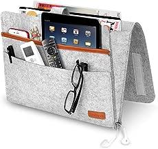 Brille Hellgrau Amokee Betttasche Buch iPad Sofa Organizer Anti-Rutsch Aufbewahrungstasche Dicke Filz Nachttisch Tasche Sofa H/ängeaufbewahrung Bett Organizer f/ür Handy Fernbedienung