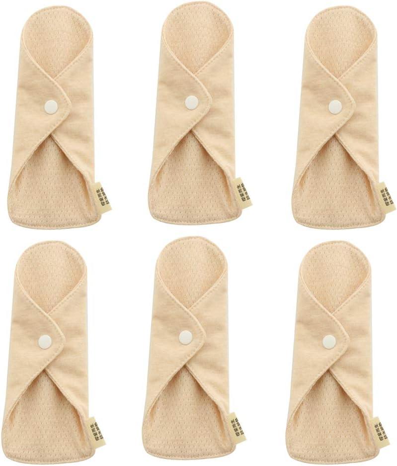 Sales Deevoka 6 Pieces of New Shipping Free Shipping Reusable Napkin Sanitary Fabric Pads Bamboo