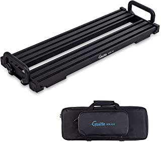 Guitar Pedal Board - Guitto Fixture Blocks Fixed Effects Pedalboard Aluminum Alloy Super Light with Carry Bag, No More Vel...