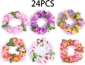 jollylife 24PCS Luau Tropical Hawaiian Headband Headpiece Leis- Summer/Tiki/Pool Mahalo Flower Party Decorations Favors Supplies