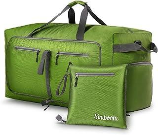 Simboom 100L Bolsa de viaje plegable, resistente al agua Bolsa de viaje ligera con compartimento para zapatos Bolsa de lon...