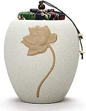 CGH Handmade Home Elegant Design Storage Tank Cremation Pet Casket Creative Personality Household Seasoning Tank (Color : White)
