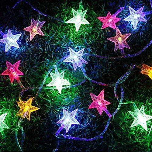 Star - Ghirlanda luminosa a LED, alimentata a batteria, 3 m