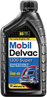 Mobil (120429-6PK) Delvac 1300 Super 15W-40 Motor Oil - 1 Quart, (Pack of 6)