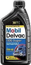 Mobil (120429-6PK) Delvac 1300 Super 15W-40 Motor Oil - 1 Quart, (Pack of 6)