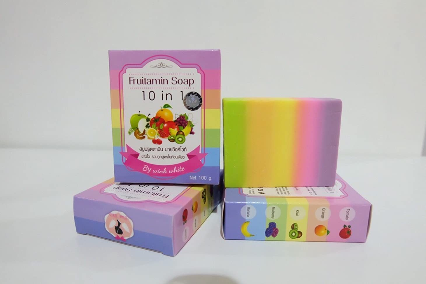 手書き脈拍ステレオFRUITAMIN SOAP 10 IN 1 soap jelly cubes single vitamins park headlights course. Whitening Soap. 100 g. Free Shipping.