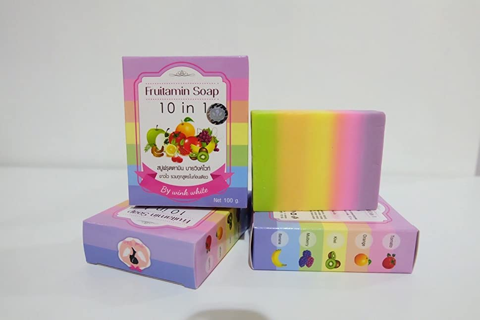 突然最悪クリーナーFRUITAMIN SOAP 10 IN 1 soap jelly cubes single vitamins park headlights course. Whitening Soap. 100 g. Free Shipping.