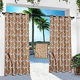 Cortinas impermeables al aire libre, abstractas, forma circular de pincel, 84 pulgadas de largo, cortinas aisladas con luz solar para techos altos y porche frontal (1 panel)