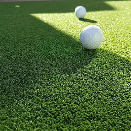 MadeInNature Gazon synthétique Haut de Gamme d'extérieur & d'intérieur   Dimensions aux Choix   Tapis Type Gazon Artificiel - Tour de Piscine, Green de Golf (100 x 200 cm, Green de Golf)