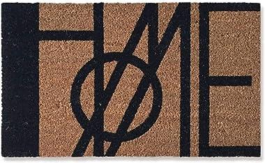 Floor mat Door mats Coconut Fiber Rectangular Anti-Slip mat dustproof Entrance Garden Door mat 29.5×17.7×0.8inch Brown (Color