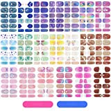 20 Sheets Full Wrap Nail Polish Stickers Self-Adhesive Nail Art Decals DIY Nail Art Stickers with Nail Files, Strips Manicure Kits Nail Art Decoration for Women Girls (Butterfly Style)