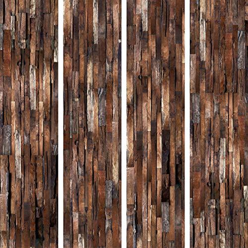 murando - PURO TAPETE selbstklebend Holzoptik 10m Wandtattoo dekorative Möbelfolie Dekorfolie Fotofolie Panel Wandaufkleber Wandposter Wandsticker - Holz f-A-0205-j-d