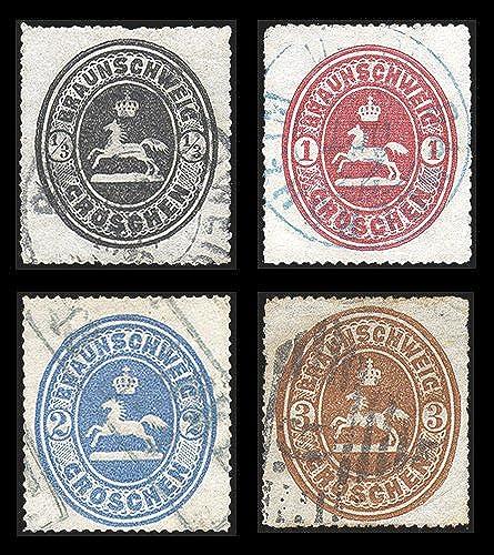 Goldhahn BraunschWeiß Nr. 17-20 gestemprlt geprüft - Briefmarken für Sammler