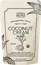 Anima Mundi Coconut Cream Powder - Organic Non-Dairy Coconut Creamer - Silky Dairy-Free Creamer for Coffee, Smoothies, Desserts & More - Vegan, Non-GMO, Organic Plant-Based Creamer (8oz)