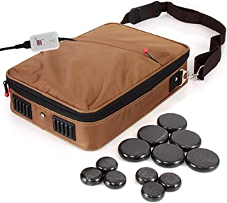 SereneLife Portable Hot Stone Massage Warmer Set & Spa Kit with Temperature Control,..