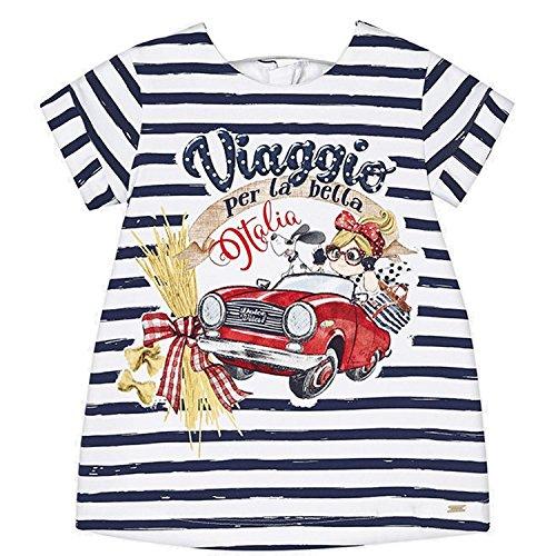 Mayoral - baby meisjesjurk korte mouw tuniek auto donkerblauw - 1964