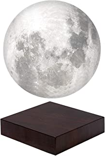 VGAzer Magnetic Levitating Moon Lamp Light Floating and Spinning in Air Freely with LED Lights White for Home or Office De...