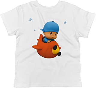 Pocoyo - Pilot Pocoyo Flying His Airplane 100% Cotton Toddler T-Shirt