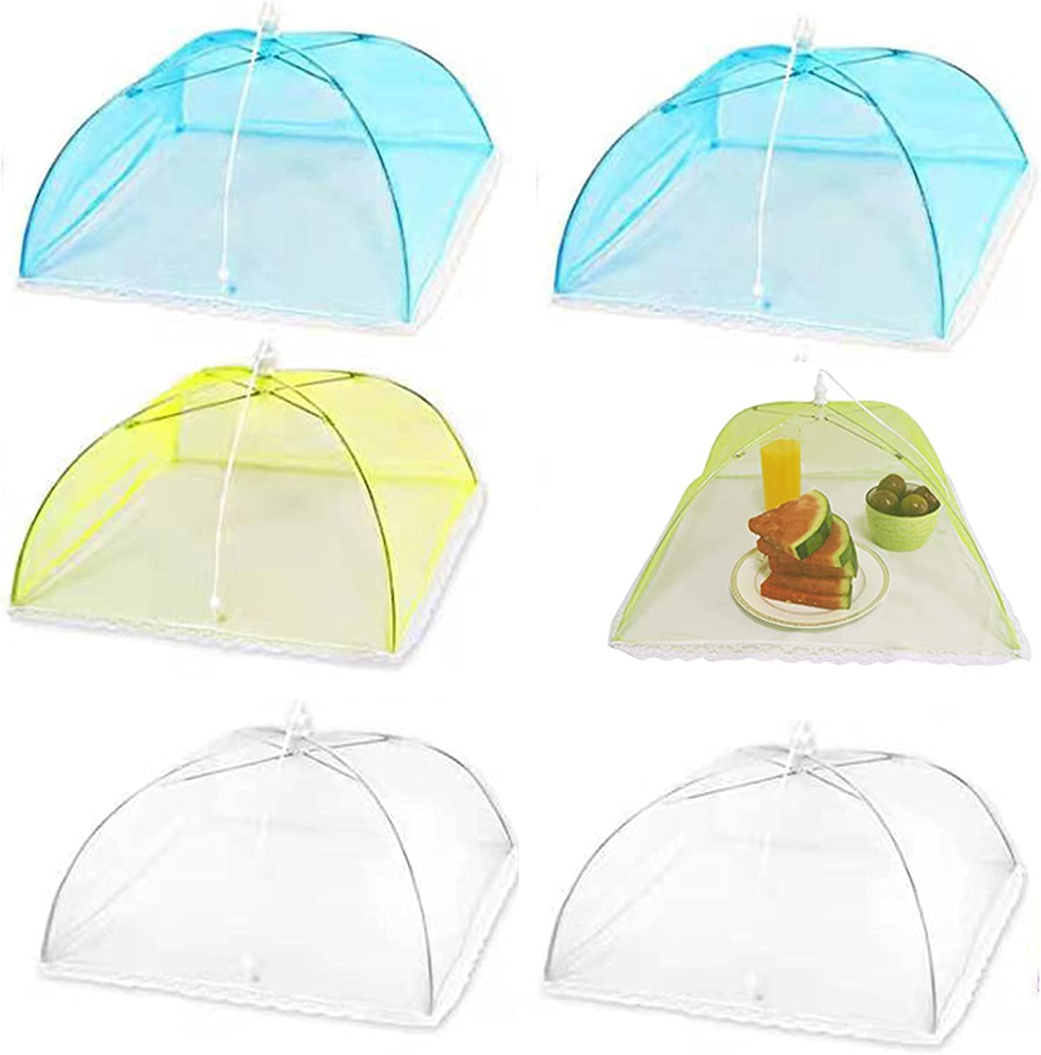 6 Packs Foldable Under blast sales Mesh Food Nylon Covers Snac Discount is also underway Serving 17