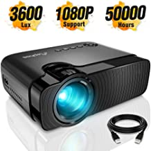 ELEPHAS Mini Projector, Full HD 1080P and 180