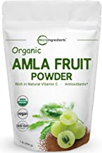 Organic Amla Powder (Amalaki),1 Pound (16 Ounce), Natural Antioxidant and Flavonoids, Strongly Supports Immune Health, Energy, Weight Loss Management and Fat Burn, Non-GMO and Vegan Friendly