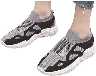 Zapatillas Zapatillas de Mujer Deporte Planas de Malla Transpirable Zapatos Casuales de Zapatos de Malla Aire Libre para M...