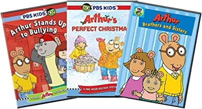 PBS Arthur Educational & Learning DVD Collection: Arthur Stands Up To Bullying / Arthur's Perfect Christmas / Arthur: Brothers & Sisters