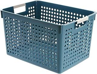 MRBJC Boîtes de rangement en plastique polyvalentes pour cuisine, garde-manger, jouets, nourriture, vêtements - Bleu 31 x ...