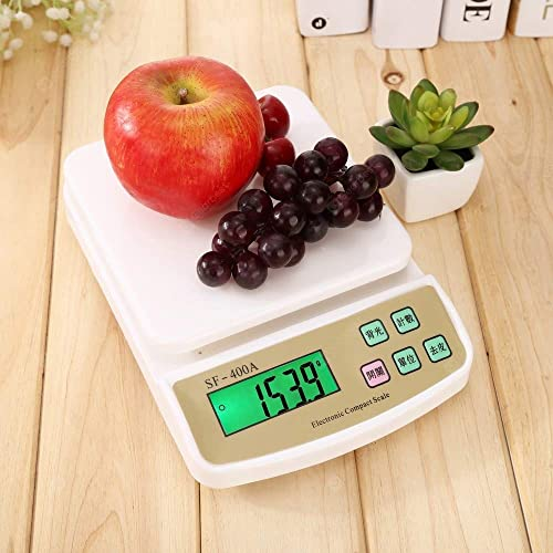 Shree Khodiyar Creation 10 KG Electronic Weight Machine for Kitchen Food Weight Scale for Home Kitchen Shop Small Portable Weighing Scale for Food Products