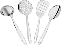 Amazon Brand - Solimo Stainless Steel Kitchen Tools (4-Pieces)