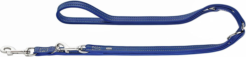 HUNTER Cannes Leather Training Lead Rope, 20 x 200 cm, Medium, bluee