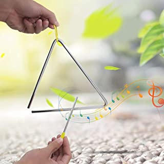 Alta calidad con suspensión amarilla Triángulo de acero de alta calidad, triángulo resistente de 6 pulgadas, instrumento m...