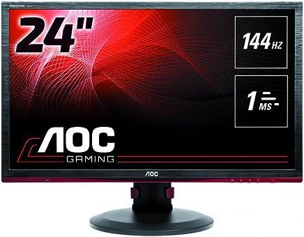 "AOC G2460PF 24"" Widescreen TN LED Black/Red Multimedia Monitor (1920x1080/1ms/VGA/DVI-D/HDMI/DP)"