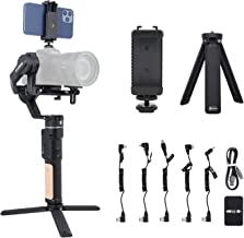 Estabilizador de cardán de cámara de 3 ejes - FeiyuTech AK2000C Carga útil de 4.85 lb con pantalla OLED compatible para Sony Canon/PANASONIC/Nikon/FUJIFILM SLR Cámaras Material de aleación de aluminio