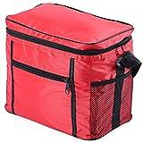 HYXT Oxford-Tuch-Isolierungs-Kühltasche 11L Multifunktions Tragbare Wasserdichte Bequeme große Kapazität Faltbare Abnehmbare Umwelt-Reise-Isolierungs-Kühle Eis-Tasche (Rot)