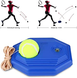 VGEBY Tennis Trainer Rebound Ball, Tennis Ball Back Trainer Baseboard with Rope Self-Study Tennis Rebound Player
