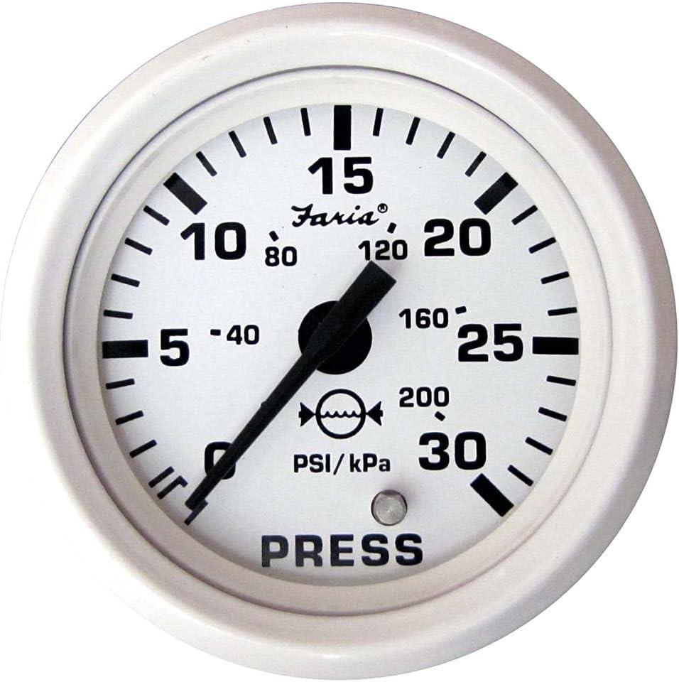 Faria 13108 Dress Ranking TOP11 Water Pressure Gauge Kit B Max 61% OFF White PSI - 2