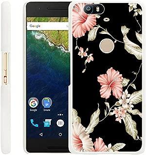 Huawei Nexus 6P Case Rose,Gifun Slim White Hard Back Case for Huawei Google Nexus 6P - Pink Rose Case