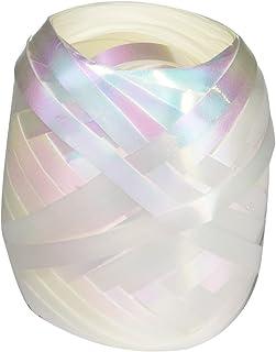 """Berwick BCE1252 3/16"""" x 66ft Curl Keg White Iridescent Ribbon"""