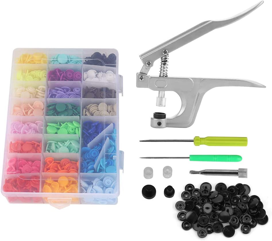 GOTOTOP Plastic Snaps and Pliers No-Sew Classic Cheap mail order shopping Buttons T5 Set
