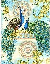 Diamond Painting by Number Kits,5D Diamond Painting Peacock Diamond Embroidery Cartoon Cross Stitch Canvas Resin European ...