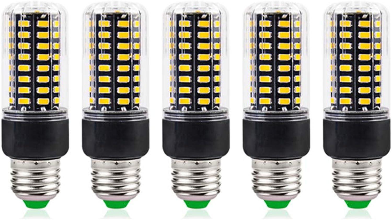 WYNA E27 Super Helle Mais LED Glühbirne, Indoor Studio Mais Lampe Groe Flche Kommerziellen Deckenleuchten-Hohe Garage Lager (5er Pack),Weiß,7W