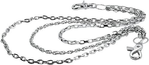 Uniqsum Slim Triple wallet chain Swivel Trigger snap Lightweight Biker Key chain