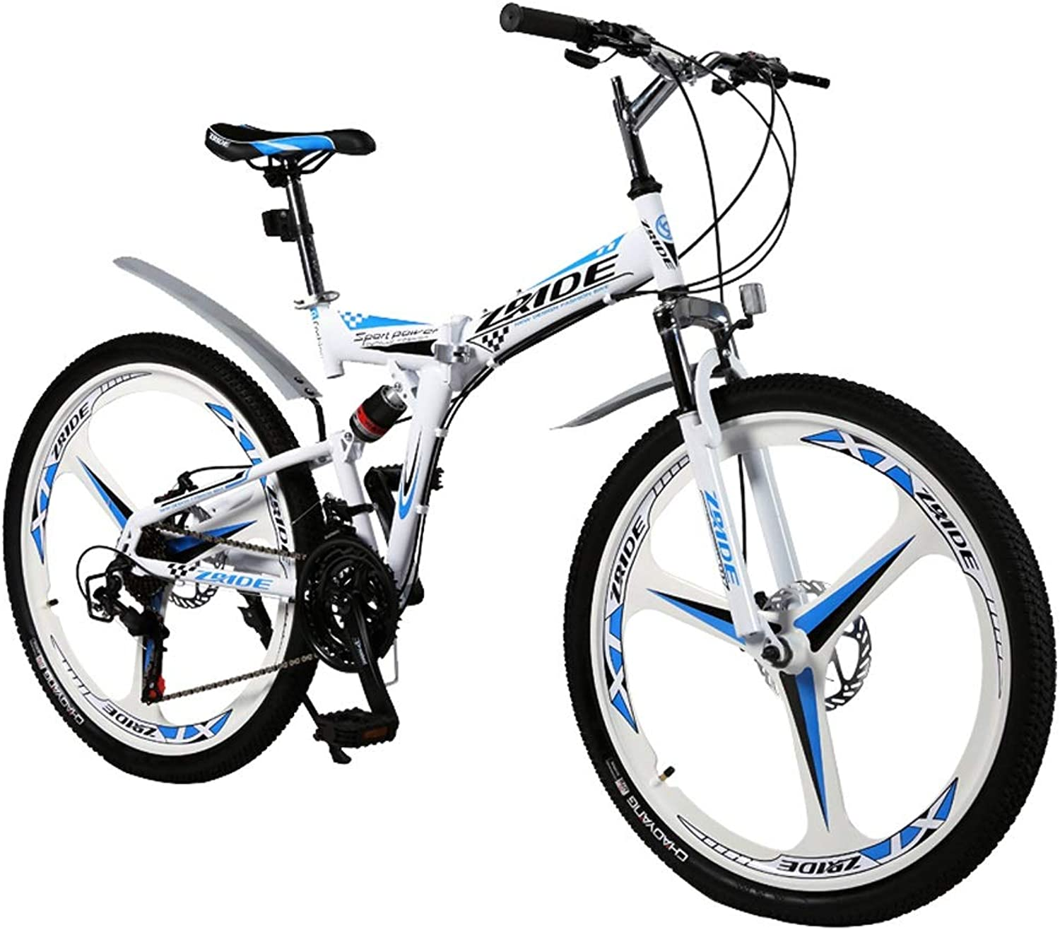 and Hardness High Bike, Mountain Foldable high 27Speed White