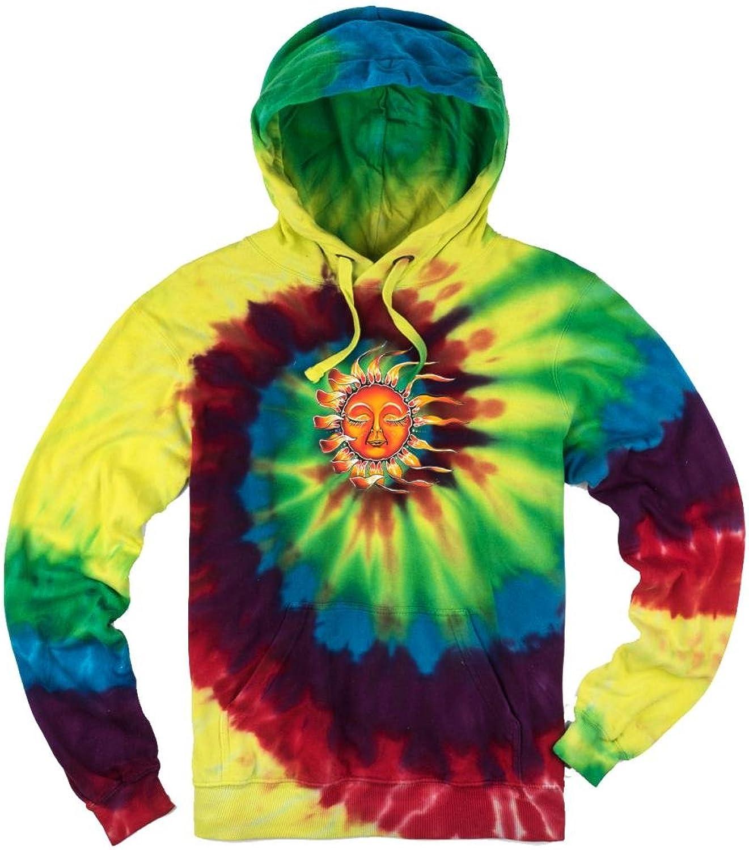 Yoga Clothing For You Mens Tie Dye Sleeping Sun Hoodie