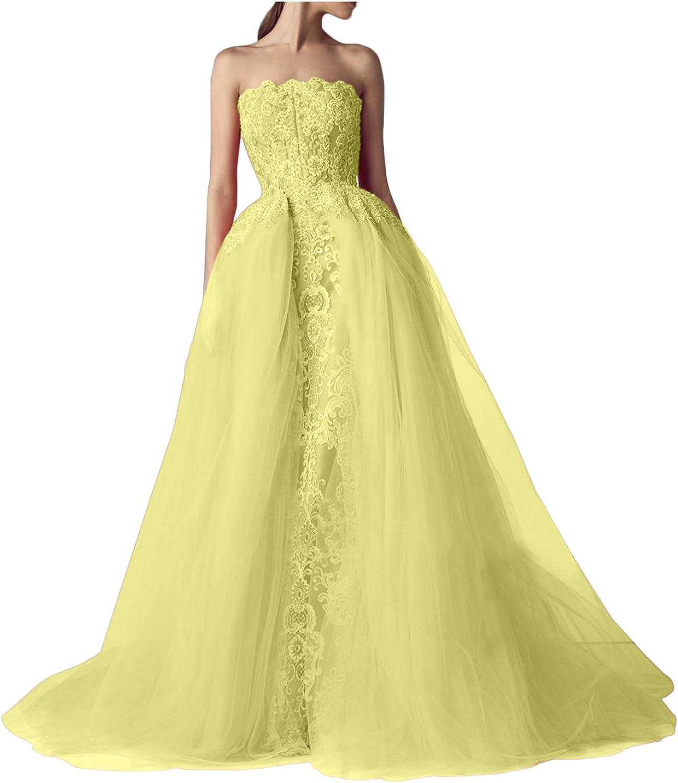 DressyMe Women's Evening Wedding Dresses Elegant Strapless Tulle