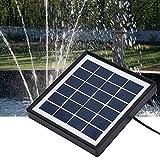 Simlug Kit de Doble Bomba de Agua Sumergible Solar Bombas de Fuente sin escobillas de 5W con Panel Solar para Piscina Koi Pond Garden Pájaro Baño Cascada Acuario Patio Jardín Exterior
