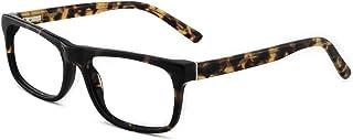 OCCI CHIARI Men Fashion Black Rectangle Eyewear Frame With Non-Prescription Clear Lens